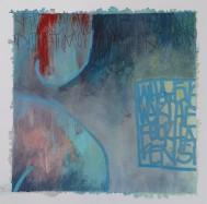 """Night light"" 20x20 cm Collage, acrylique, poska sur carton plume 25 euros"
