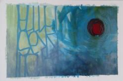 """My Planet"" 30x20 cm Collage, acrylique, poska sur carton plume 30 euros"