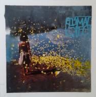"""""""La jeune fille aux fleurs"""" 25x25 cm Collage, acrylique, poska sur carton plume 35 euros"""